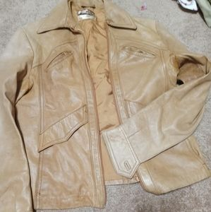 Pacha Tan Leather Jacket